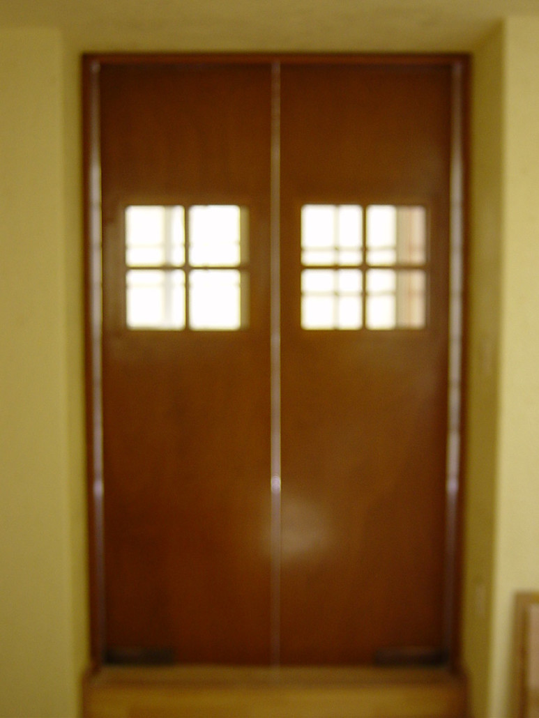 Dise o integral en madera puertas for Puertas de cocina